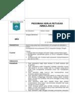 SPO Pedoman Kerja Petugas Ambulance