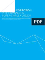 IMPROVED CORROSION PERFORMANCE IN SUPER-DUPLEX WELDS