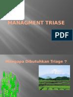 Managment Triase Orientasi
