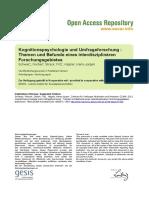Kognitionspsychologie Und Umfrageforschung