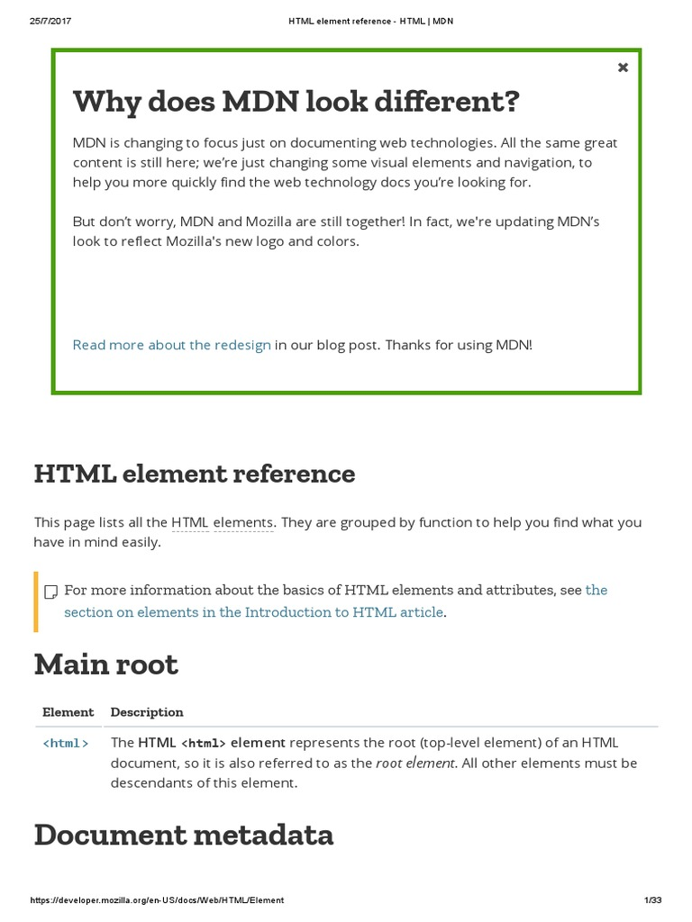 Tutte Le Tag HTML, HTML Element Reference - HTML _ MDN | Html | Html ...