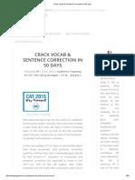 Crack Vocab & Sentence Correction in 50 Days