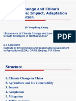 Climate Change and China's Agriculture