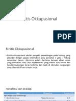 rinitis okkupasional