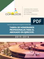 - Tarifario de Abogados Conalbos 2015 - 2016