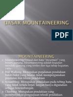 Dasar Mountaineering