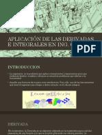 Aplicación de Las Derivadas e Integrales en Ing