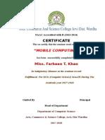 Bsc Certificate
