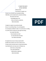 O Captain Poem Lit
