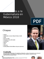 Candidatos a La Gubernatura en México 2018.
