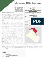 Referéndum de Independencia Del Kurdistán Iraquí de 2017