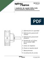 Sistemas de Medición de Caudal Gilflo ILVA-Instrucciones de Instalación y Mantenimiento