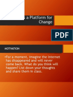 ICT as a Platform for Change