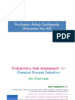 Ad-probabilistic Risk Assessment for Chemical Process Industry a Case Study