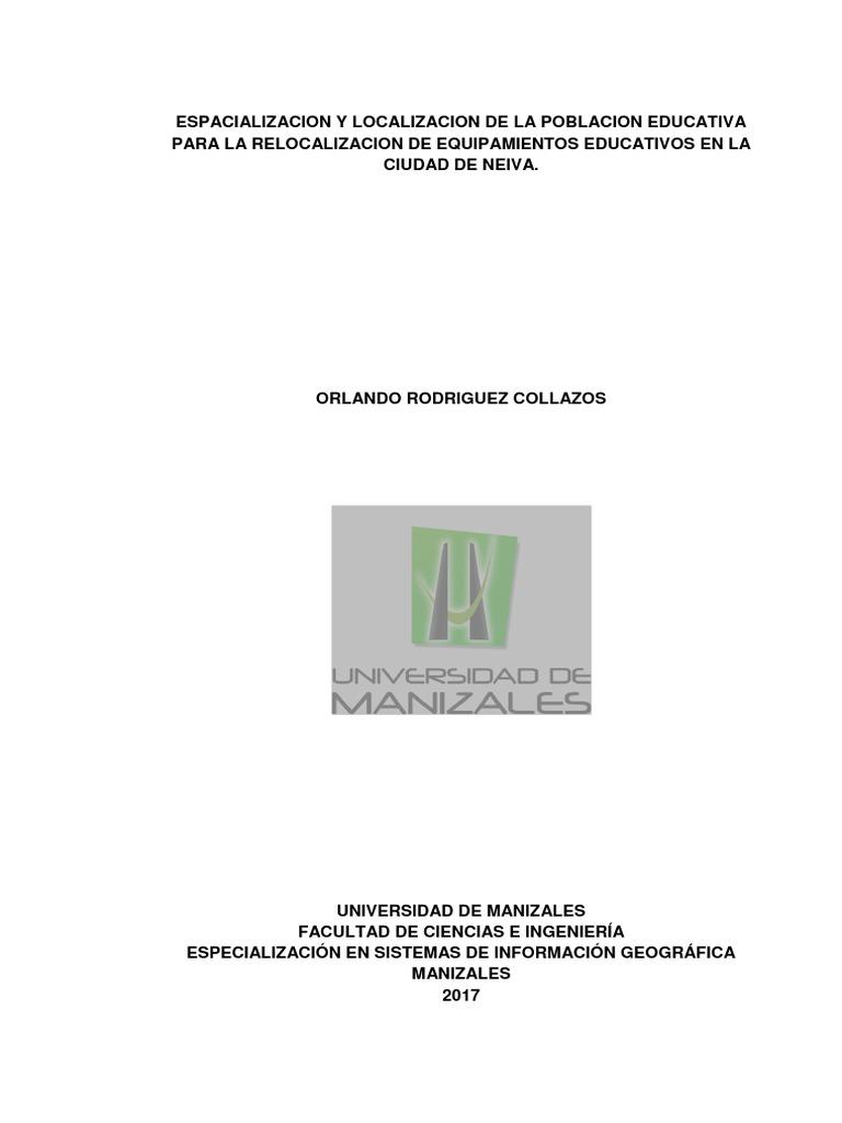 2 Espacializacion Y Localizacion De La Poblacion Educativa Para  # Muebles Gepetto Mora