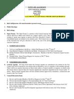 Council June 6 Agenda