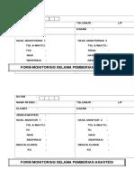Form Monitoring Pemberian Anastesi