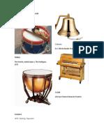 Instrumentos de Percusion, De Cuerda