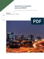 Cómo Se Encuentra La Economía Peruana a Inicios Del 2016