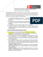 Orientaciones Metodológicas Para El Desarrollo de La Ficha 10 Al Docente Acompañado