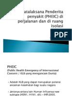 Tatalaksana Penderita Penyakit (PHEIC) Di Perjalanan Dan Ruang Isolasi