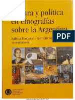 2005 Frederic&Soprano Introduccion CulturayPoliticaEtnografiasArgentina
