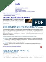 Recurso de Alzada