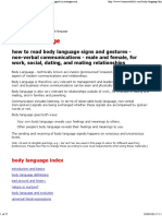 flirting moves that work body language worksheets for beginners pdf free