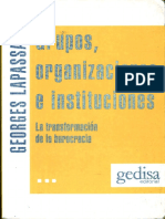 Lapassade; Georges - Grupos, Organizaciones e Instituciones.pdf