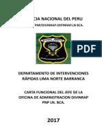 Carta Funcional Del Jefe Ofad Divinrap Pnp Ln. Bca. 01jun17