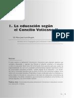 02- La Educación Según El Concilio Vaticano II