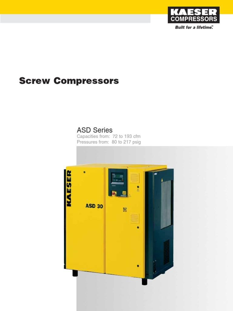 asd 30t gas compressor transmission mechanics rh es scribd com Kaeser BS 61 Manual kaeser asd 25 parts manual