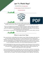 Paper vs Plastic