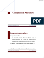 Design of Compression Members - Lectures