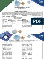 Guía de Actividades y Rúbrica de Evaluación - Paso 2 -Describir y Comparar Los Conceptos de Ciencia, Tecnología e Innovación