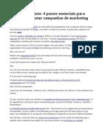 4 Passos Essenciais Para Campanhas de Marketing Perfeitas