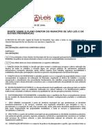 Plano Diretor Do Municipio de São Luis (Lei Municipal Nº4669-2006)