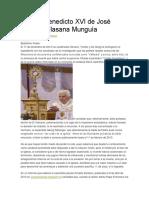 Carta a Benedicto XVI de José Alberto Villasana Munguía