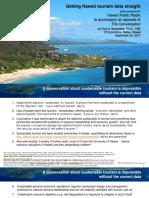 September 2017 Tourism Analysis by Paul Brewbaker, TZ Economics