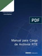 Manual de Carga de Archivos de RTE