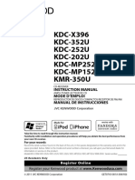 Kenwood KDC-X396 Manual