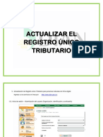 Actualizar El Registro Único Tributario