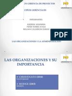 Introducción a La Teoria de Las Organizaciones Capitulo 1 y Fundamentos de La Organizacion Capitulo 2