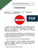 Cartaz - Comunicado Sobre Regras