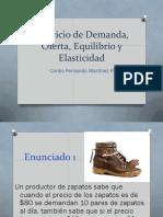 Ejercicio de Demanda, Oferta, Equilibrio y