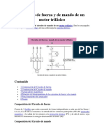 Circuitos de Fuerza y de Mando de Un Motor Trifásico