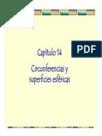 Cap 14 Circunferencias y Superficies Esféricas PARTE I