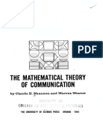 Mathematical Theory of Communication - Shannon
