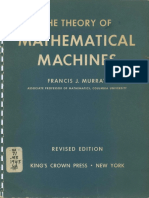 Murray Theory of Mathematical Machines 1948