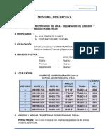Memoria Descriptiva 2016 FORTUNATO